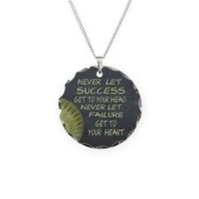 Success Fastpitch Softball M Necklace Circle Charm