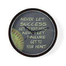 Success Fastpitch Softball Motivational Wall Clock