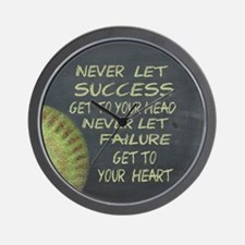 Success Fastpitch Softball Motivational Wall Clock