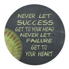 Success Fastpitch Softball Motiva Round Car Magnet