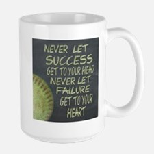 Success Fastpitch Softball Motivational Large Mug