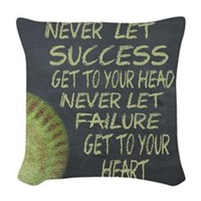 Success Fastpitch Softball Mot Woven Throw Pillow