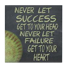 Success Fastpitch Softball Motivation Tile Coaster