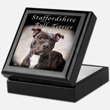 Staffordshire Bull Terrier Keepsake Box