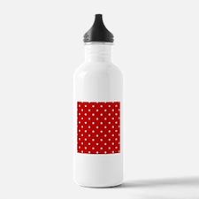 White Stars on Red Water Bottle