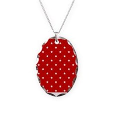 White Stars on Red Necklace