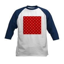 White Stars on Red Baseball Jersey