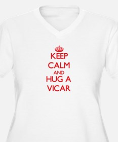 Keep Calm and Hug a Vicar Plus Size T-Shirt