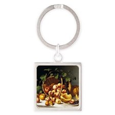 A Basket of Fruit, John F. Francis Square Keychain