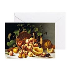 A Basket of Fruit, John F. Francis p Greeting Card