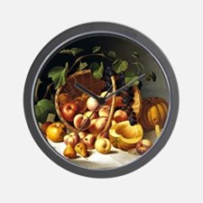 A Basket of Fruit, John F. Francis pain Wall Clock