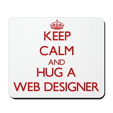 Keep Calm and Hug a Web Designer Mousepad