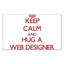 Keep Calm and Hug a Web Designer Decal