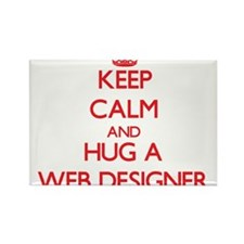 Keep Calm and Hug a Web Designer Magnets