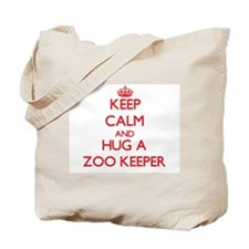 Keep Calm and Hug a Zoo Keeper Tote Bag