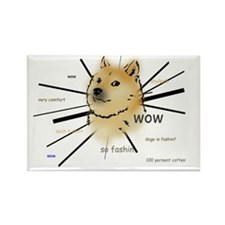wow such doge Rectangle Magnet