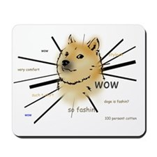 wow such doge Mousepad