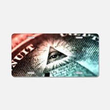 All Seeing Eye Pyramid  Aluminum License Plate
