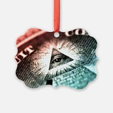 All Seeing Eye Pyramid  Ornament
