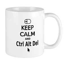 Keep Calm and Control Alt Delete (black) Mugs