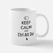 Keep Calm and Control Alt Delete (black) Mugs