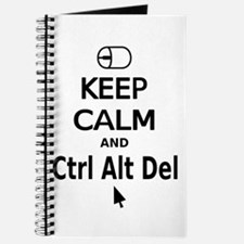 Keep Calm and Control Alt Delete (black) Journal