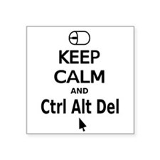 Keep Calm and Control Alt Delete (black) Sticker