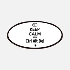 Keep Calm and Control Alt Delete (black) Patches