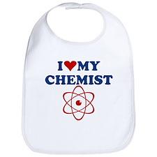 I LOVE MY CHEMIST SHIRT chemi Bib