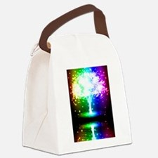 Color Tree Canvas Lunch Bag