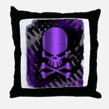 Funny Purple skull Throw Pillow