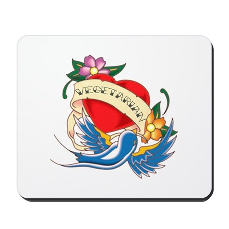 Vegetarian Tattoo Mousepad