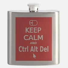 KC Ctrl Alt Del (red) Flask