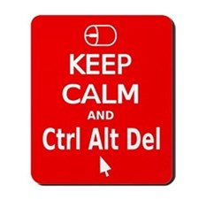 KC Ctrl Alt Del (red) Mousepad