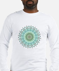 Evergreen Mandala Pattern Long Sleeve T-Shirt