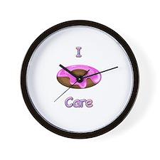 I donut care Wall Clock