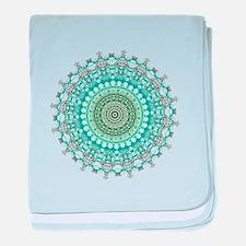 Evergreen Mandala Pattern baby blanket