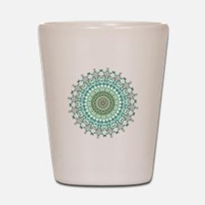 Evergreen Mandala Pattern Shot Glass