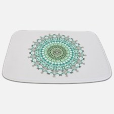 Evergreen Mandala Pattern Bathmat