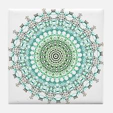 Evergreen Mandala Pattern Tile Coaster