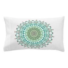 Evergreen Mandala Pattern Pillow Case