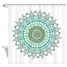 Evergreen Mandala Pattern Shower Curtain