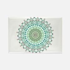 Evergreen Mandala Pattern Magnets