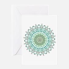 Evergreen Mandala Pattern Greeting Cards