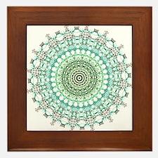 Evergreen Mandala Pattern Framed Tile