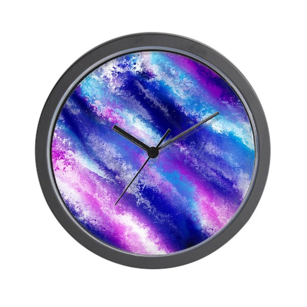 space glow wall clock by rockstarstyles