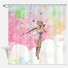 The Fairy And The Frog Shower Curtain