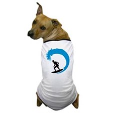 Surfer wave Dog T-Shirt