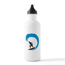 Surfer wave Water Bottle