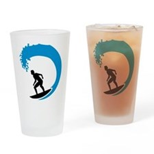Surfer wave Drinking Glass
